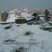 почистване на ледени висулки